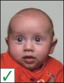 pasfoto baby - ogen hoeven niet op een lijn