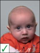 pasfoto baby - schouders recht is niet noodzakelijk