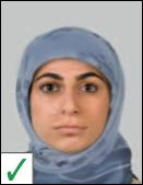 pasfoto - hoofddoek mag als gezicht niet bedekt wordt