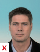 pasfoto - kleurverloop in achtergrond