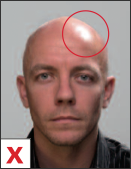 pasfoto - belichting mag niet reflecteren