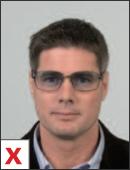 pasfoto - bril geen getint glas