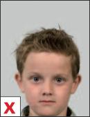 pasfoto - positie hoofd te laag