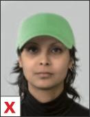 pasfoto - hoofdbedekking niet toegestaan
